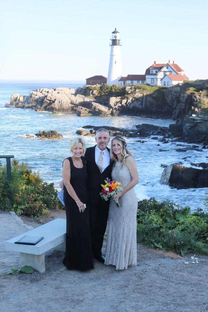 Connie Mills, Wedding at Portland Headlight